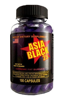 Cloma Pharma Asia Black 25 Ephedra Diet Pills 100 cap