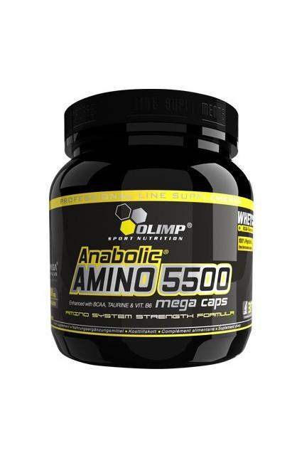 Anabolic AMINO 5500 mega caps - 180 капсул (банка)