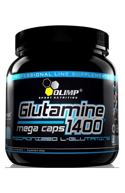 Glutamine mega caps 1400 - 300 капсул (банка)