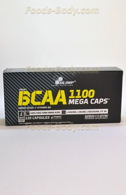 Profi BCAA mega caps 1100 - 120 капсул (коробка)