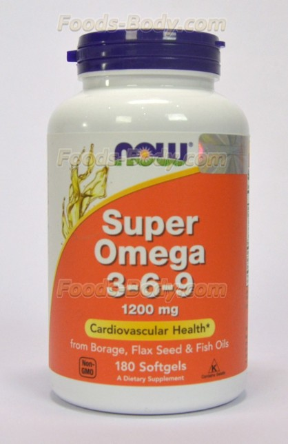 Super Omega 3-6-9 1200mg 180 Softgels