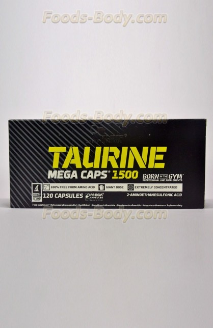 Taurine 1500 mega caps - 120 капсул (коробка)