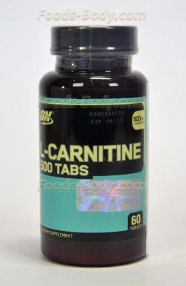 L-CARNITINE 500 60 таб