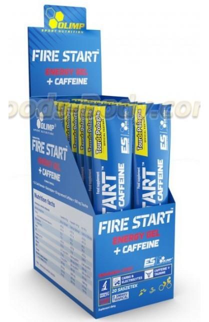 Fire Start Energy Gel+Caffeine 20 пакетиков